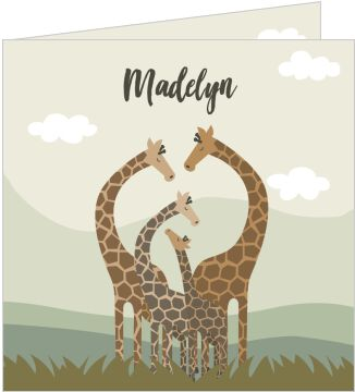 Madelyn Illustratief Giraffes Mint